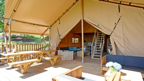 Glamping Spotty Lodge Family